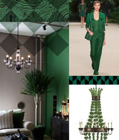 [Photo Credit: Pantone][/caption]Now that 2012 is over, it's time to look to 2013 for interior design inspiration Colour Schemes, Color Trends, Color Combos, Color Palettes, Design Trends, Emerald Color, Emerald Green, Emerald City, Jade Green