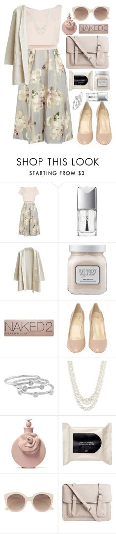 """""""The mood of the shade"""" by anna-modestovna ❤ liked on Polyvore featuring Coast, Christian Dior, Laura Mercier, Urban Decay, Giuseppe Zanotti, London Road, Anne Klein, Valentino, H&M and Witchery"""