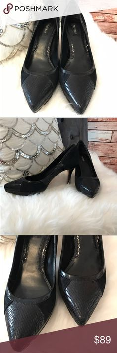 White House Black Market Black Heels Only Worn Once! - Beautiful Black and Suede Heels - Gently Used White House Black Market Shoes Heels