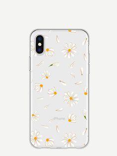 f108e64ad5 SheIn Daisy Print iPhone Case Silver Accessories, Tech Accessories, Cool  Cases, Unique Fashion