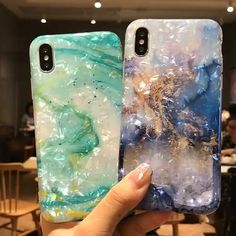 INSNIC Glossy Marble Case For iPhone - accessoire +nails - Phonecases Diy Iphone Case, Iphone Phone Cases, Phone Covers, Iphone Charger, Free Iphone, Iphone 9, Iphone Deals, Iphone Cases Cute, Girly Phone Cases