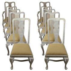 Harlequin Set Of Ten Antique Gustavian Style Limed Oak Dining Chairs