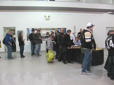 Fans also got to see the newly remodeled Tom Clark Chevrolet showroom . . .