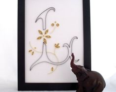 monogram L, wall decorations, wall art décor, home decorating, art décor, decorative accents, girls room décor, living room décor