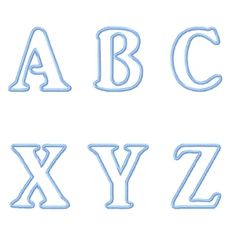 "kids applique alphabet  approx 3.3""x3.7"""