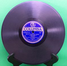 """1920 Columbia Blue Label 10"""" Shellac 78 RPM Record, Play-Rated G-! - $3.95"""