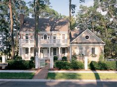 two story front porches | Copyright by designer/architect Drawings and photos may vary ...