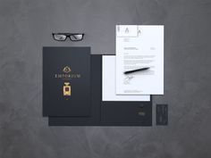 Photoshop Stationery / Branding / Identity Mock-up by Alan Delmas, via Behance