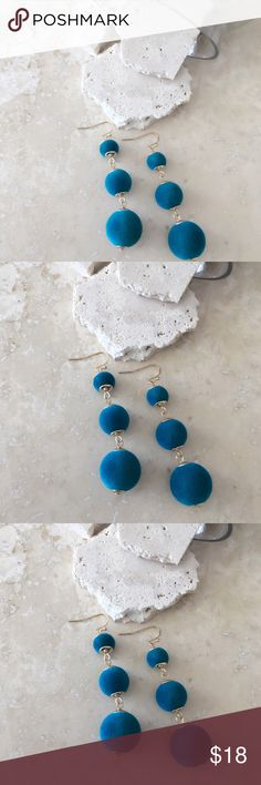 JUST IN FALL TREND: TEAL VELVET EARRINGS JUST IN FALL TREND: TEAL VELVET EARRINGS   Cute Velvet Balls Dangle Earring. Pom Pom Ball Drop Earrings Trendy. Available in Black, Burgundy and Grey. Lead compliant     FREE WITH PURCHASE: Cute little organza drawstring pouch for storage or for gifting.     Bundle & Save!! 10% 3+ items  No Trades MischkaPu Jewelry Earrings