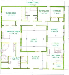 Perfect Hd Simple Home Plans With Scale unique hd simple home plans with scale in home Center Courtyard House Plans With 2831 Square Feet This Is One Of My Bigger Houses