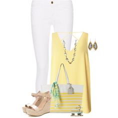 Casual Summer Style by kginger on Polyvore featuring polyvore, fashion, style, Dorothy Perkins, Frame, Reed, Alexis Bittar, Wet Seal, Lauren Harper Collection and clothing