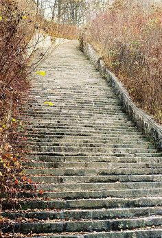 Tiny steps of Mauthausen.  The suicide stairs at the Mauthausen Concentration Camp. Going here was life changing, literally.