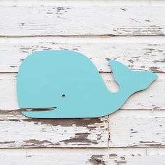 Preppy wooden whale sign Beach sign Nursery wall by MyrtleBrown, $69.00