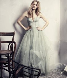 Spring / summer - dressy style - pale blue gown - H concious exclusive 2013