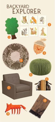 Love this compilation of Woodland-themed baby decor. Foxes, I'm telling you! (Sea Urchin Studio: Woodland nursery)