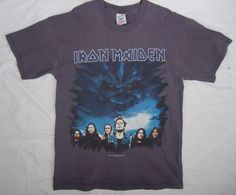 vtg rare Iron Maiden Brave New World 2000 world concert tour t-shirt band photo
