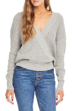 a65a21dd6aae6 ASTR the Label Stephanie Surplice Sweater available at #Nordstrom Stylist  Pick, Jean Outfits,