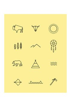 Love it Original message : The Natives - Iconography by Josh Griggs, via Behance #icons #iconos Pachamama