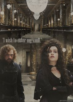 helena bonham carter as bellatrix as hermione... she did awesome! [also: Ron with moustache?]