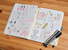 Bocetos. Baraja gráfica The Design Deck, Ben Barrett-Forrest, 2014.