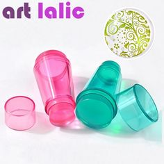 Dyal 4cm Xl Clear Jelly Nail Art Stamper Silicone Head Double Use Rhinestone Cap & Scrapers Manicure Nail Art Tool Beauty & Health