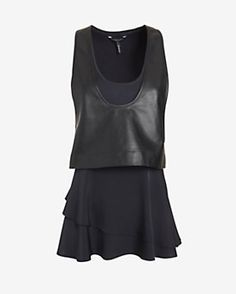 Marissa Webb Rae Leather/Silk Top #intermix #sweepstakes