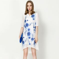 Find More Dresses Information about 2015 summer style embroidery flower transparent dresses temperamental blue and white porcelain silk dresses,High Quality porcelain furnace dental lab,China dress clothe Suppliers, Cheap porcelain paper from Sharewin Fashion(QEJIN) Co.,ltd on Aliexpress.com