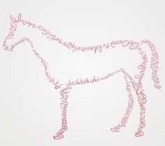 Equestrian Alphabet. This would be cool with a horse quote rather then the alphabet!