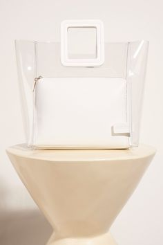 Shirley Bag Clear / White