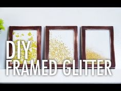 Mr. Kate - DIY framed glitter