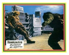 German lobby card set for 'War Of The Gargantuas'