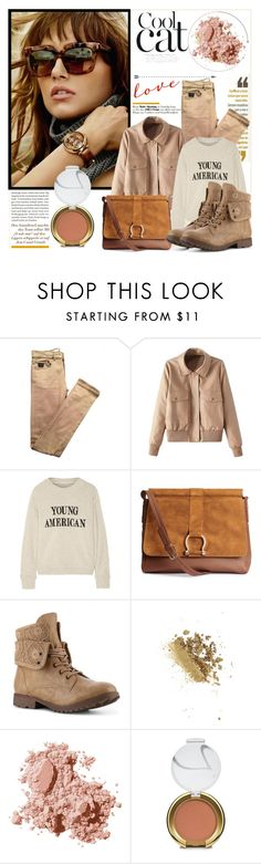 """Young American"" by claud-637 ❤ liked on Polyvore featuring Martha Medeiros, April 77, The Elder Statesman, H&M, Topshop, Bobbi Brown Cosmetics and Jane Iredale"
