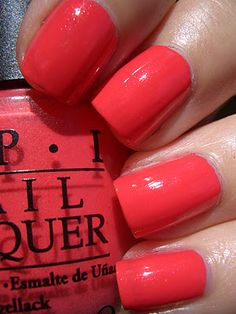 OPI I Eat Mainely Lobster... I really like this color!