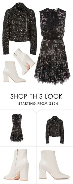 """""""Floral + Tweed"""" by cherieaustin ❤ liked on Polyvore featuring Giambattista Valli and Gianvito Rossi"""