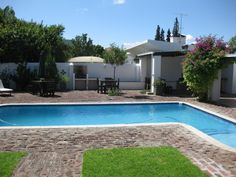 Swimming Pool with braai facilities at Camdeboo Cottages in Graaff-Reinet. B or Self-Catering Accommodation is available Secure parking & meals upon request.