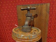 Mason Jar Sconce Light Fixture, Country Primitive, Rustic Wood, Vintage Style #RusticPrimitive