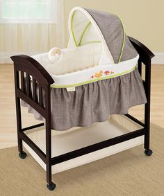 Look at this Dark Wood Fox Classic Comfort Bassinet on #zulily today!