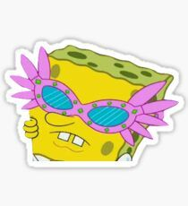 Stickers Discover Spongebob Pink Glasses Sticker by trendsonpoint