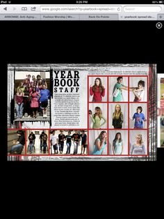 This type of spread could add some dynamic elements to make the yearbook staff spread a bit more interesting. It would be excessive to have features for the staff members but adding some individuality to the members' portrait photos could perhaps make the spread seem less dull.