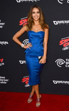 """Jessica Alba arrives at the premiere of """"Sin City: A Dame to Kill For"""" at the TCL Chinese Theatre in Los Angeles on Aug. 19, 2014.Like us on Facebook?"""