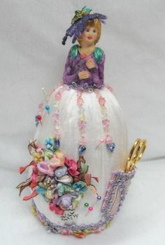 Victorian Pincushion Half Dolls | could tell you what Fran told me about her classes.