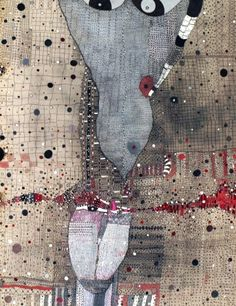 Rossinante Under Cover XII, 2011  Mixed Media on Canvas by Huguette Caland