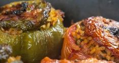 Absolutely delicious dishes you need to try. Greek Recipes, Vegan Recipes, Cooking Recipes, Greek Desserts, Galaktoboureko Recipe, Food Network Recipes, Food Processor Recipes, Greek Stuffed Peppers, Veggie Dinner