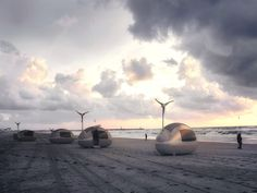 Live off grid in an Ecocapsule equipped with wind turbine and solar cells - Living in a shoebox Off The Grid, Wind Power, Solar Power, Solar Energy, Futuristisches Design, Graphic Design, Global Design, Smart Design, Design Ideas