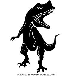 Free dinosaur silhouette vector clip art image.. More Free Vector Graphics, www.123freevectors.com