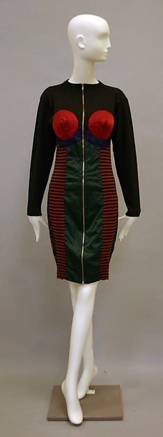 Dress, Designer: Jean Paul Gaultier (French, born 1952) Date: 1986–87 Culture: French Medium: cotton, synthetic