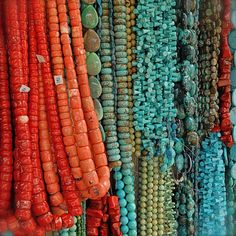 Beads!  I LOVE oranges and blues together