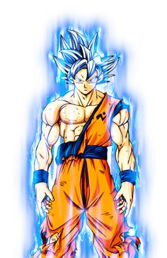 UI Goku Manga w/ Aura by blackflim on DeviantArt