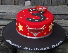 Lightning McQueen (Number Track) Cake, McQueen Car Track Cake, Car Cake