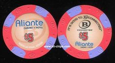 #LasVegasCasinoChip of the Day is a $5 Aliante Casino New issue with the B Connected logo on one side.  You can get the rack here https://www.all-chips.com/ChipDetail.php?ChipID=19422  #CasinoChip #LasVegas